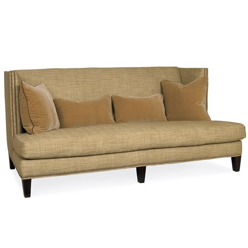 "$2271  Choice of fabrics  Overall: 80""W x 38""D x 37""H  Inside: 71""W x 21""D x 18""H  Seat: 18""H  Arm: 37""H  Back rail: 37""H"
