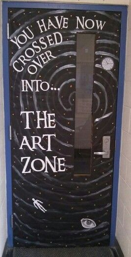 This would be cute changing it to The Library Zone for my door.