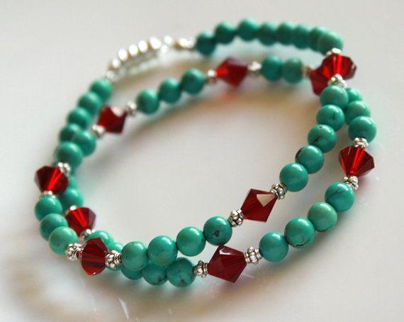 Turquoise Choker NecklaceTurquoise Beaded by myVardo on Etsy