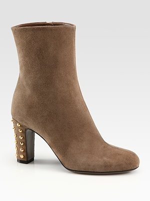 Gucci - Jacquelyne Studded Suede Ankle Boots - Saks.com: Gucci Boots, Design Shoes, Su Ankle Boots, Jacquelyne Studded, Suede Ankle Boots, Studs Suede, Gucci Jacquelyn, 5 3 Shoes, Jacquelyn Studs