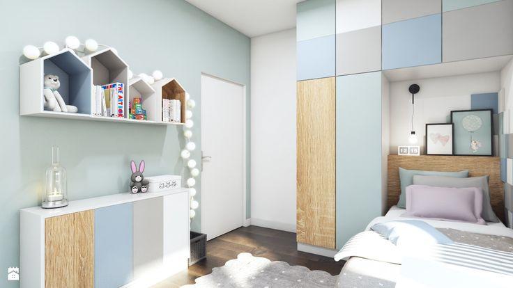 Pastelowa sypialnia dla dziewczynki - zdjęcie od MONOstudio - Pokój dziecka - Styl Skandynawski - MONOstudio