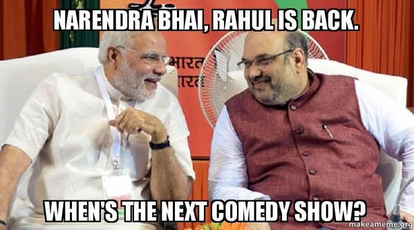 Rahul Gandhi and comedy show