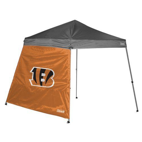 NFL Cincinnati Bengals 10 x 10-Feet Slant Leg Canopy Wall by Licensed Products. $25.00. 10' X 10' Slant Leg Canopy Wall. Fits 10'X10' Shelter. Offers Protection from the Elements. Features Full Color Team Logo. Show your team pride and block out the elements with this Coleman branded shelter wall.