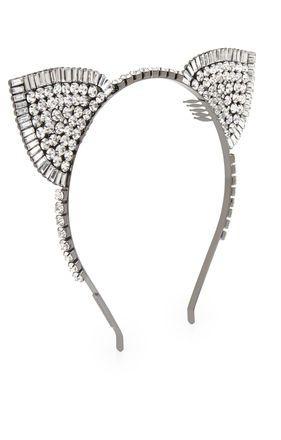 Stone-Detail Cat Ears Headband, BCBG