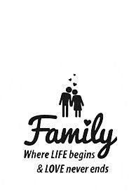 FAMILY 34X38CM VINAL WALL STICKER
