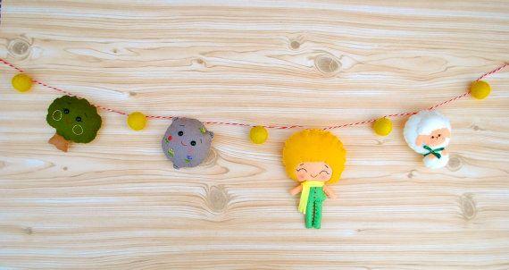 #felt #garland #tiny prince #noialand #minimez #baby #nursery #decor #gift