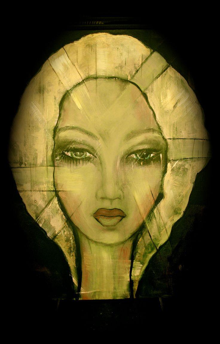 création Marie Poirier médium acrylique,,,format 24x30 po.......