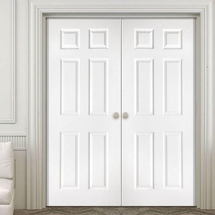 Washington Solid Grained 6 Panel PVC Door Pair & 38 best Internal PVC Double Doors images on Pinterest | Double doors ...