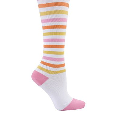 Comfortable, non-binding and ultra-soft, these compression trouser socks from Nurse Mates look so cute and provide so much support. Knee length.