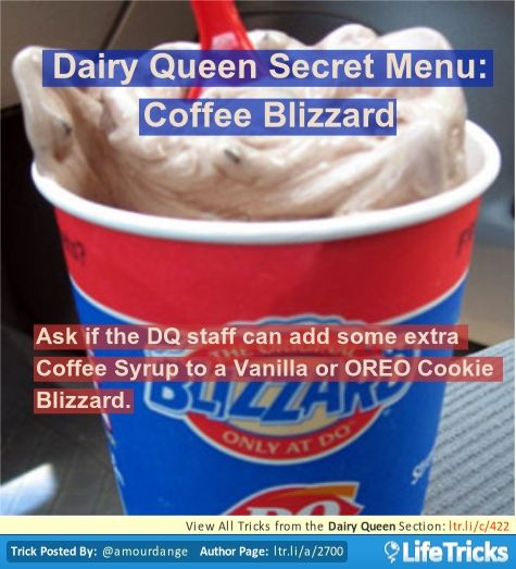 Dairy Queen Secret Menu: Coffee Blizzard