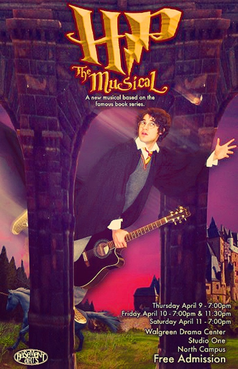 This is the original poster for 'A Very Potter Musical'. This was back when it was still called 'Harry Potter the Musical' but as we all know they had to change the name of the musical to avoid being sued.