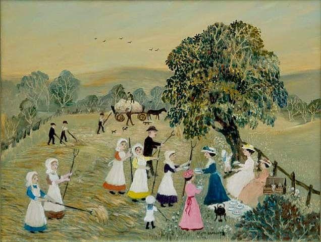 Helen Bradley British Artist (1900-1979), On a Beautiful Warm June Day