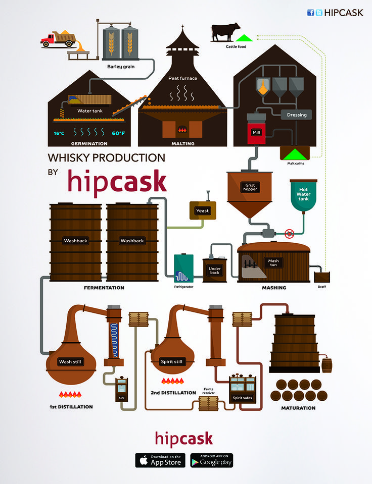How is Whisky Made? #Infographic
