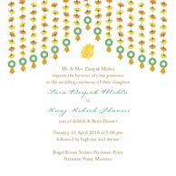 Wedding Invitations Marigold Strings Invitation