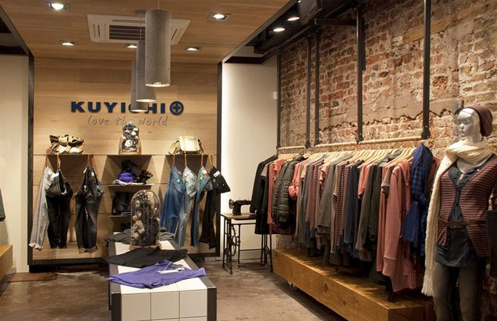 Kuyichi flagship store by Millimetre Design, Cork – Ireland. Kuyichi sells both mens and womens fashions using an almost 100 per cent sustainable product.