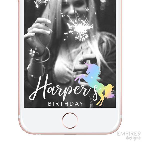 Unicorn Snapchat Geofilter Birthday Birthday Snapchat Filter