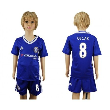 Chelsea Fotbollskläder Barn 16-17 #Oscar Emboaba 8 Hemmatröja Kortärmad,248,15KR,shirtshopservice@gmail.com