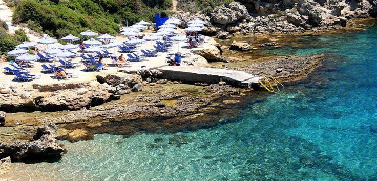 Anthony Quinn Beach, Rhodes, Greece