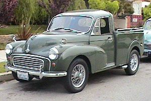English: Picture of author's pickup truck: a Morris Minor 1960