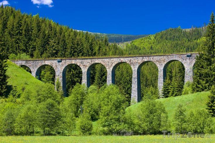Fotka, Foto Železniční viadukt poblíž obce Švermovo (Slovensko)
