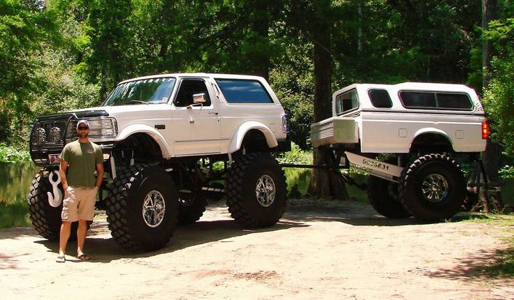 "Way Brothers Ford >> Ford Bronco on 54""s with matching trailer Support and Roll Coal For Diesel Dave. Buy Awesome ..."