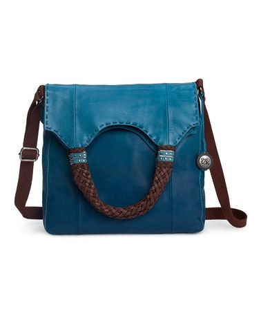 Take a look at this Aquatic Ombré Indio Fold-Over Bag by The Sak on #zulily today!
