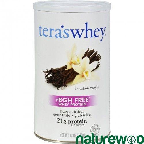 Tera's Whey - 404475 - Teras Whey Protein Powder - Organic - Whey - Bourbon Vanilla - 12 oz