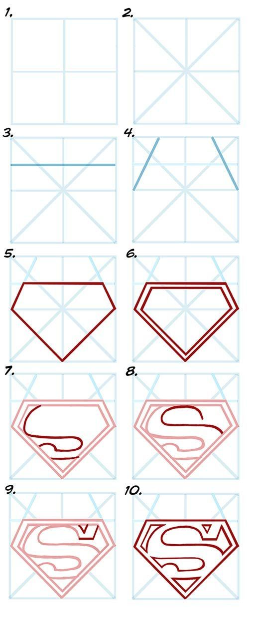how to draw superman The Most Complete Drawing Course... http://the-secretstodrawing.blogspot.com?prod=Tf2UogCp