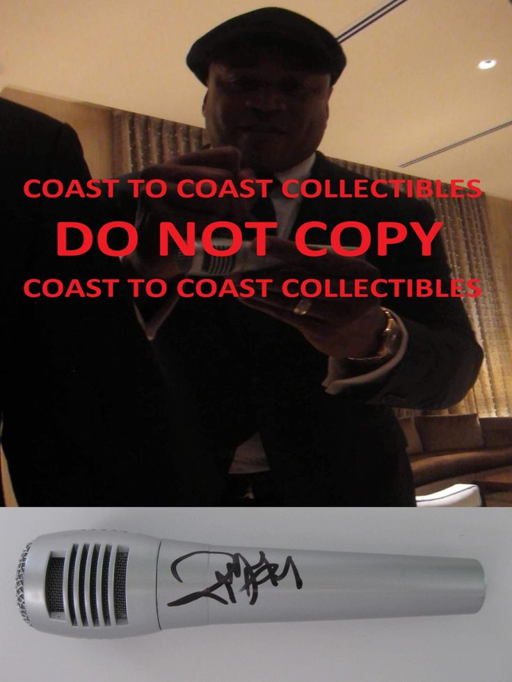 LL Cool J, American Rapper, Actor, Signed, Autographed, Microphone, Mic, a COA with the proof photo will be Included.STAR