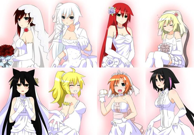 rwby jnpr wedding dress crossdress fanart