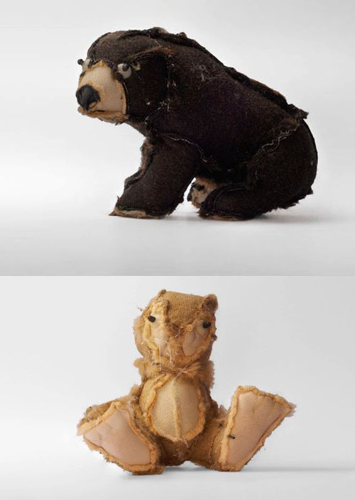 Outsiders - plush toys that have been turned inside out by Samuel Coendet & Lea Gerber, via Inspire Me Now
