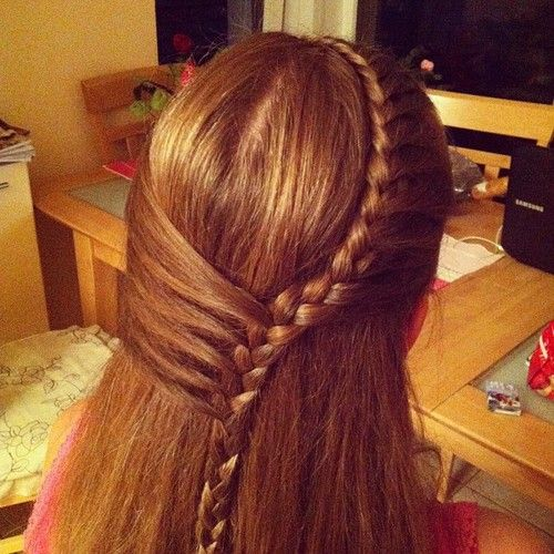 lace braid! start with fringe lace then add hair from far side of ear!