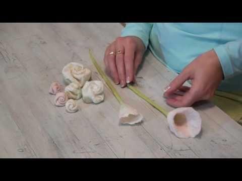Online-Videokurs Filzanleitung Blüten aus Filz herstellen — Filzen einfach online lernen