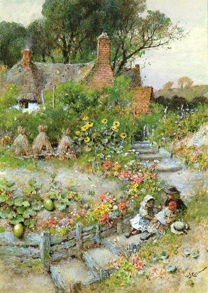 Cottage Garden In Summer William Stephen Coleman