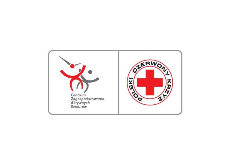 Centrum Zagospodarowania Aktywnych Seniorow   Polski Czerwony Krzyż   Logo design