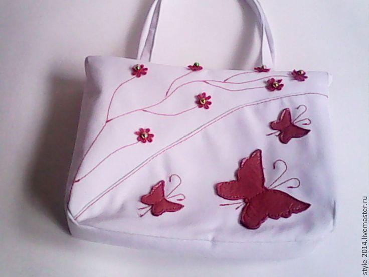 Купить Детская сумочка для девочки (БЭБИТОП) Ярмарка мастеров - белый, хлопок, детская одежда, подарок