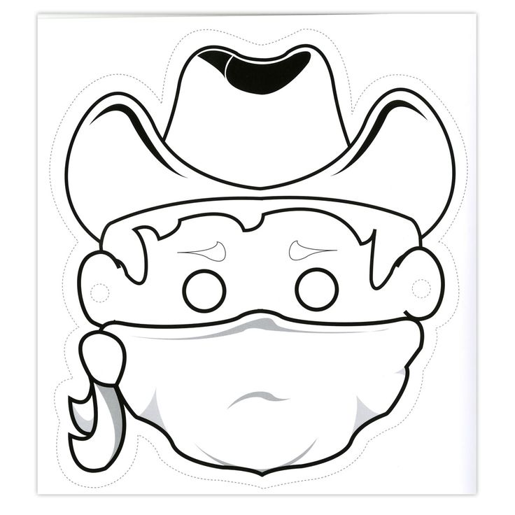 Color your own cowboy mask #craft
