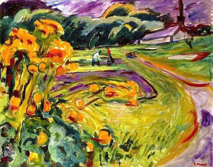 Autumn by the Greenhouse Edvard Munch - 1923-1925