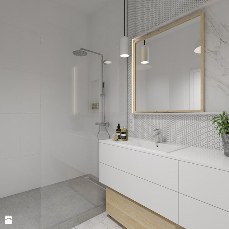 mieszkanie 140 mkw - Warszawa / Powsin - Mała średnia łazienka w bloku w domu jednorodzinnym, styl nowoczesny - zdjęcie od INSIDEarch