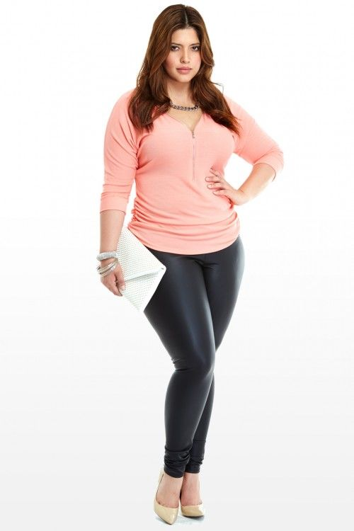Plus Size Such A Tease Zip Front Top | Fashion To Figure