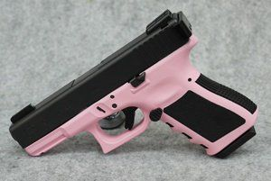 Glock 19 Pink Madness Custom Edition 9mm Pistol a lady should have a pink gun right