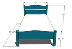 I want to make this! DIY Furniture Plan from Ana-White.com A simple classic pioneer style children's bed.