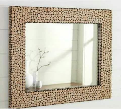 Specchio cornice in sughero
