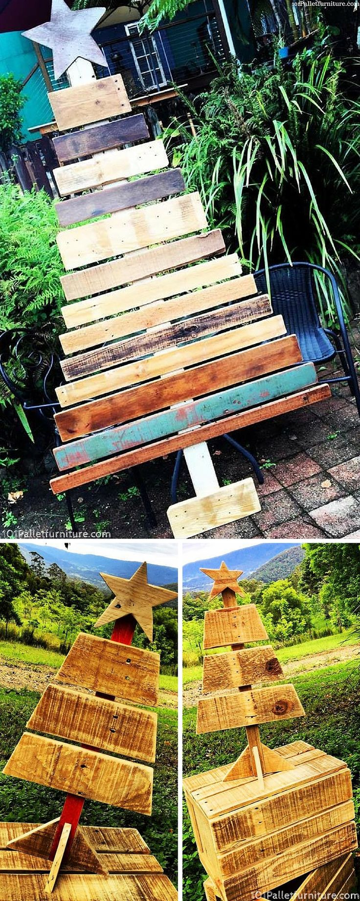 Inspiring and Decorative Wooden Pallet Tree - 101 Pallet Furniture
