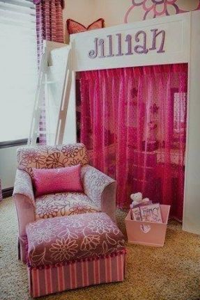 loft bed ideas for girls with chair space underneath | ... bed or as is now. I found a sofa that folds out to a bed so extra