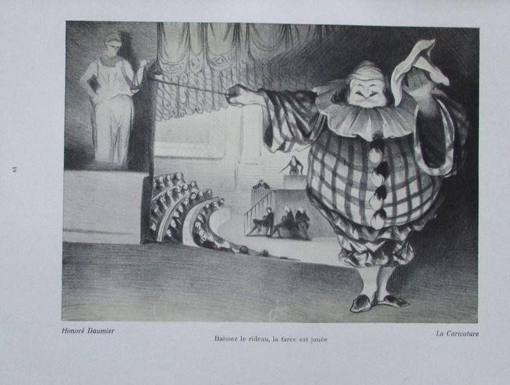 HONORE DAUMIER LA CARICATURE Kunstdruck alter Druck Antique Print Lithographie