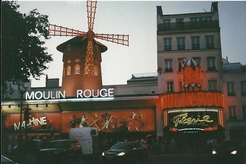 Standard shot of the Moulin Rouge, Most spectacular Burlesque show ever. Highly reccomend.    35mm with Minolta x 570