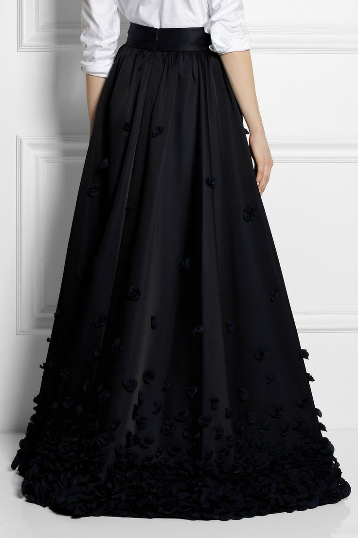 temperley ruffle appliqu 233 d satin maxi skirt net
