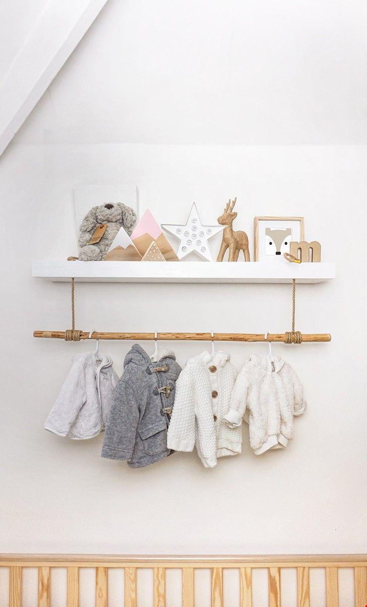 Scandinavian Nursery Inspiration Every Home Is A Castle In 2020 Nursery Shelf Decor Nursery Shelves Baby Room Shelves