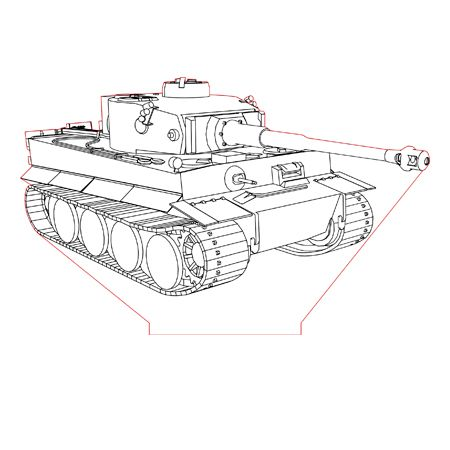Tank Tiger 3d Illusion Lamp Plan Vector File For Laser And Cnc 3bee Studio 3d Illusion Lamp 3d Illusions Tank Drawing